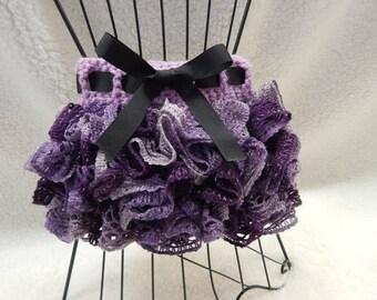 Dark and Light Purple Ruffle Tutu - Crochet Baby and Toddler Tutu