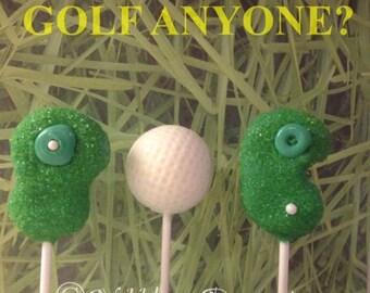 12 Golf theme cake pops