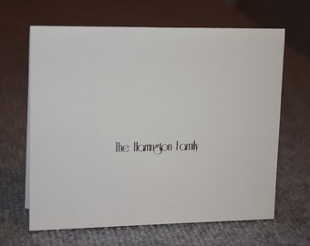 12 Personalized Notecards - Family