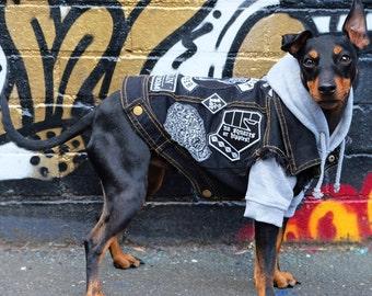 Dog Jacket / Dog Vest / Dog Coat / Denim Dog Vest / Denim Dog Jacket / Denim Dog Coat / Denim Dog harness / Cool Dog Jacket / Dog clothes