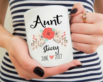 Baby gift from aunt etsy aunt mugaunt giftgift for auntaunt coffee mugpersonalized aunt negle Images