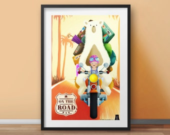 Poster for baby •  Kid's room decoration • Girl or Boy • Christmas • Birthday • Newborn • Customizable illustration • Designer product