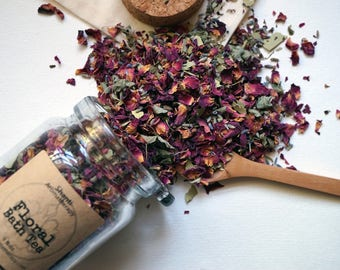 Floral Bath Tea for Stress Relief and Relaxation - Organic Herbs - Mother's Day - gifts for Mom, gifts for women
