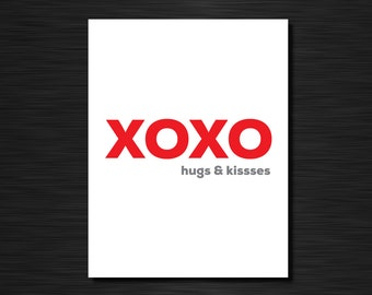 xoxo hugs & kisses | Valentines' Day and couples cards