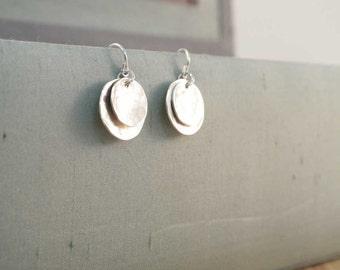 double disc earrings.