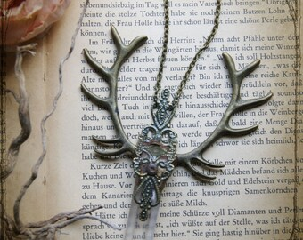 "Crystal Necklace ""Cernunnos"""