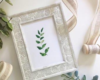 5x7 Leaves Print
