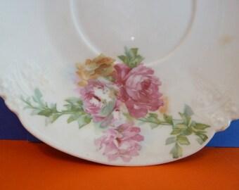 Replacement Saucer, Pink Peonies, S & G Bavaria