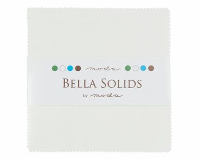 "Bella Solids Charm Squares - White 42 - 5"" Squares"