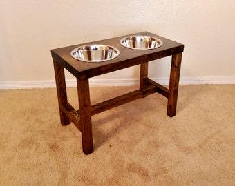 Elevated dog bowl, Large/Tall dog feeder, Dog bowl, Dog lover gift, Dog bowl stand, Pet furniture, Farmhouse decor, Raised dog bowl