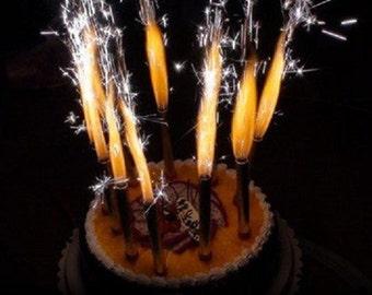 2 Packungen = 12 Brunnen Kerzen Kuchen 6 PACK Neuheit magischen Spaß Flamme Geburtstagsfeier große lange festliche Feiern Dekorationen Kinder Cracker