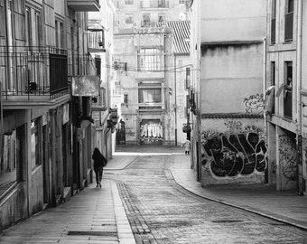 Spain Print, Street Art Photography, Salamanca, Black and White, Graffiti, Fine Art Print, Contemporary Wall Art, Urban Photography, Atun