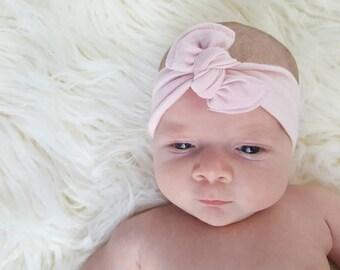 Pink baby top knot headband, baby headband knot, baby headband, top knot headband, pink headband, baby hair accessories, baby headbands