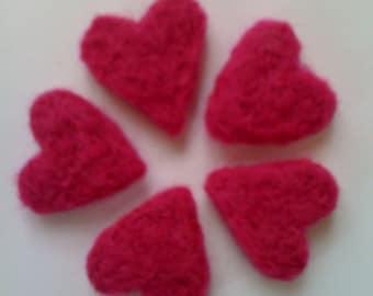 Love tokens/Valentine/Wedding/Alice in Wonderland Heart/Queen of Hearts/Needlefelted Heart