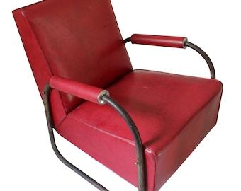 Art déco vinyle & fauteuil Club Chrome