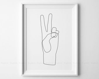 Simple Continuous Line Art : Drawing etsy
