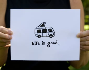 Life is Good, Life is Good Camper Drawing
