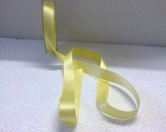 Yellow satin ribbon wide 1.5 cm