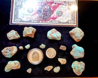 Stabilized Ma'ashan/Hubei Provence Turquoise Nuggets 1/4 lb