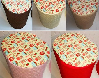 Quilted Strawberries & Jam Keurig Coffee Maker Cover (5 Colors Available)