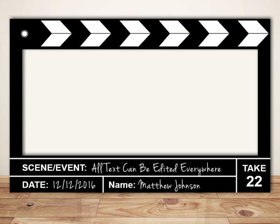 Movie Clapper Director Board Prop Digital File Only Movie