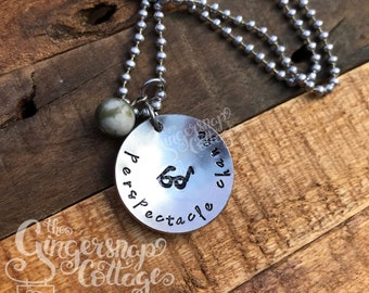 Perspectacle Change Hand Stamped Necklace, Perspective Change, Hand Stamped Jewelry, Inspirational, Humorous