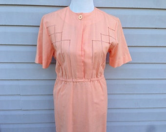 Peach Day Dress