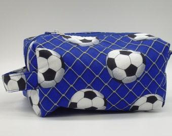 Soccer Pouch, Blue Ditty Bag, Dopp Kit, Travel Bag, Toiletry Bag, Pencil Case, Makeup Bag, Zip Pouch, Shave Kit
