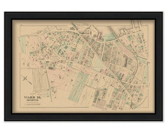 Map of Part of Dorchester - 1874 Ward 16 Plate L. - 0077