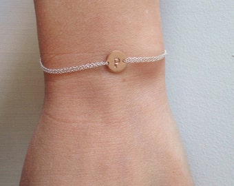 Personalized bracelet, rose gold, initial bracelet, name jewelry, rose gold, children, mother, gift for her, wedding, bridesmaid