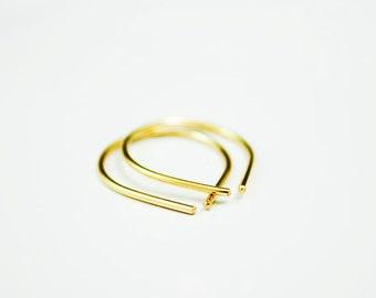Recycled Gold Earring - 14k Gold Hoop Earrings - Simple Everyday Earring - Small Gold Earring