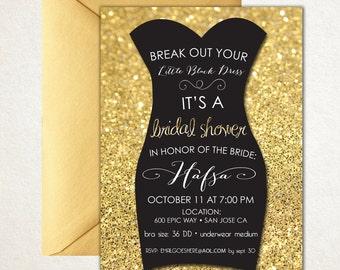 Little Black Dress Bridal shower invitation