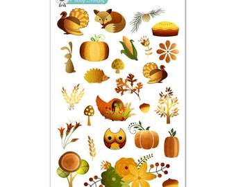Golden Autumn Stickers