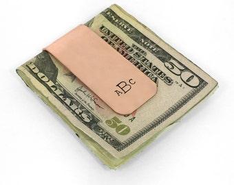 Custom Money Clip - Personalized Copper Money Clip, men's gift, groomsman gift, dad gift, 7 year anniversary gift, money, groom gift