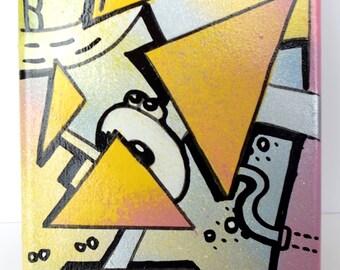 "Cubic Street-art painting: ""Technograff"""