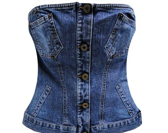 DOLCE & GABBANA  denim sleeveless top