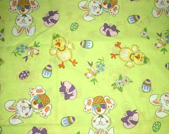 Easter Chicks and Bunnies   1 yard 3 inches  44/45 wide