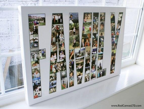Familie foto collage leinwand drucken mit text 20 x 30 - Fotocollage auf leinwand drucken ...