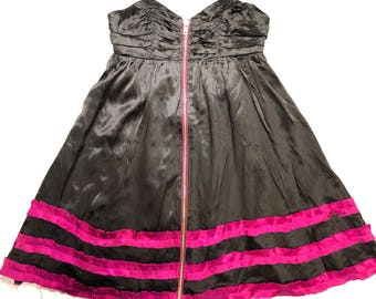 FREE SHIPPING Vintage Betsey Johnson 1990s Silk Dress