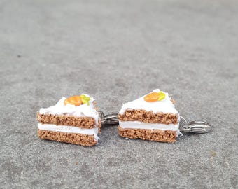 Realistic Polymer Clay Carrot Cake Charms