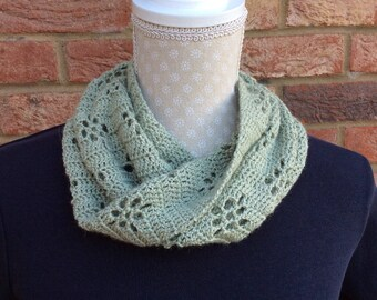Alpaca and silk crocheted cowl.