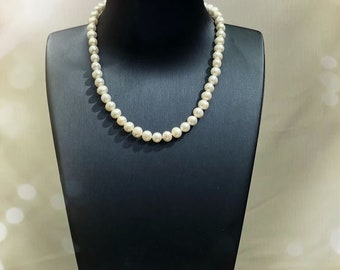 7.5-8mm 40cm Freshwater cultured pearl necklace