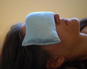 Hostess - Eye Pillows - Luxury Spa - Hemp Silk - Organic Lavender Flax - Pale Blue - Teacher Appreciation