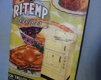 1960s Vintage Ritemp Recipes Cookbook