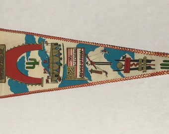 Vintage South Carolina South of the Border Amigoland Felt Pennant
