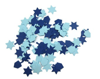 Dreidel and Star of David Paper Confetti You Choose the Colors