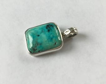 TURQUOISE  pendant. Battle Mountain, Nv. Solid Sterling, crafted in USA