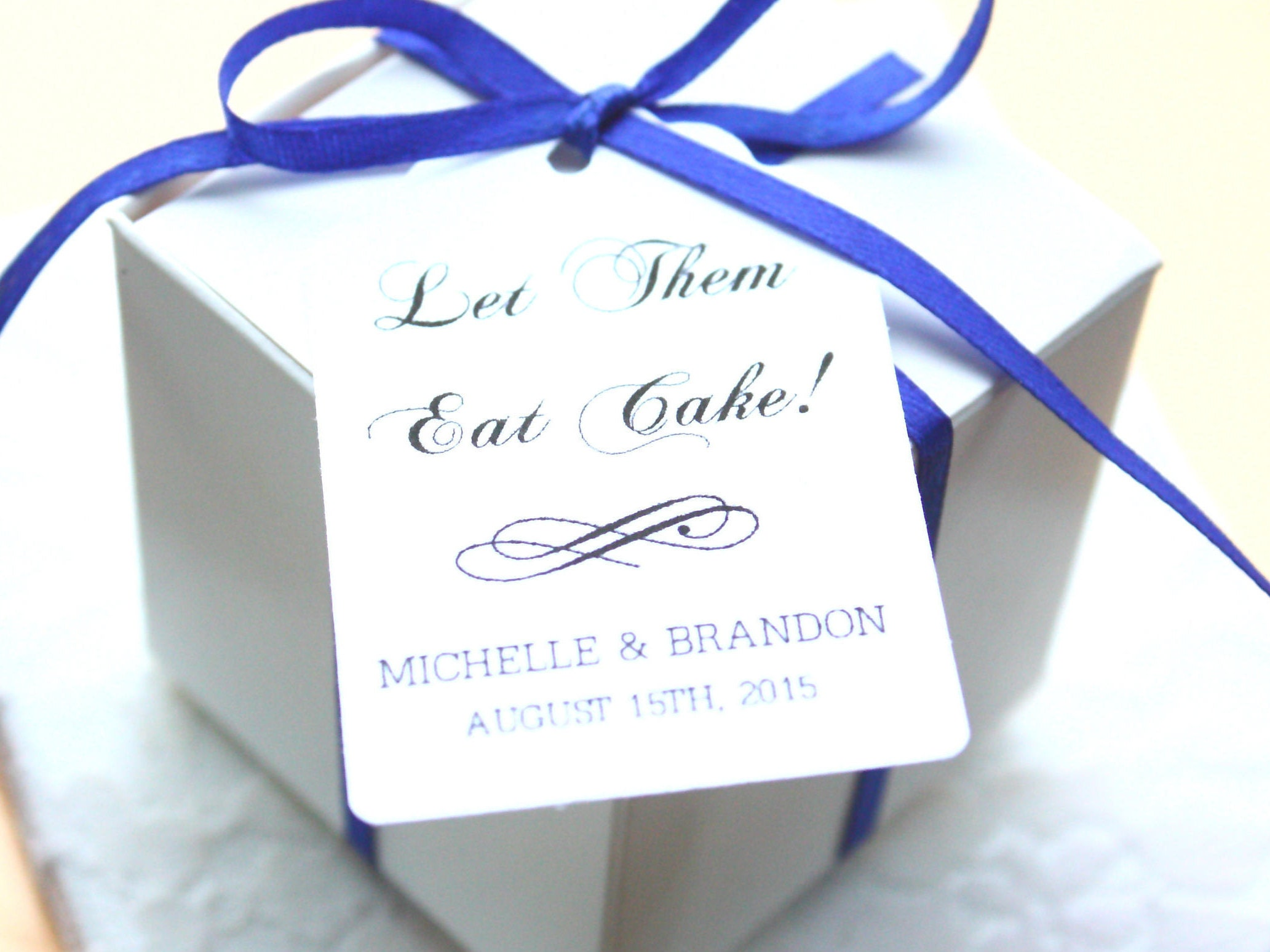 Let Them Eat Cake Wedding Favour Tag Thank You Wedding Favour