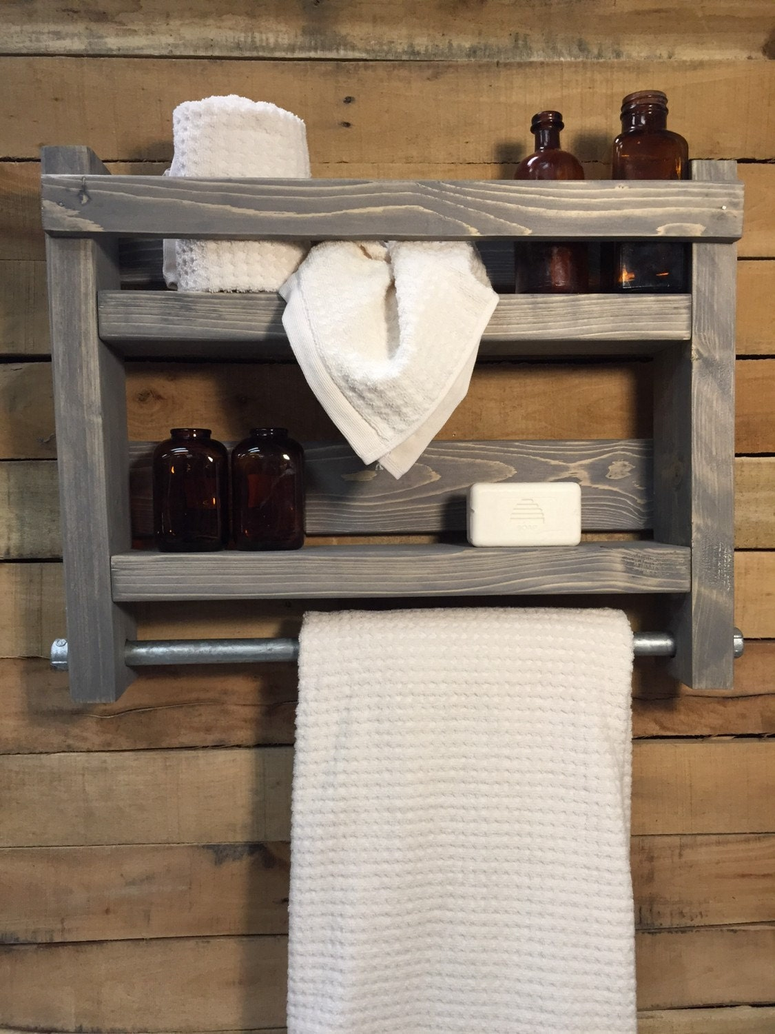 Bathroom Towel Rack Wood Towel Rack Bathroom Shelf