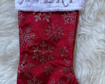 Personalized Glitter Stocking, Christmas Stocking, Holiday Stocking, Baby Gift, Baby Girl, Baby Stocking, Christmas Gift, Holiday Gift